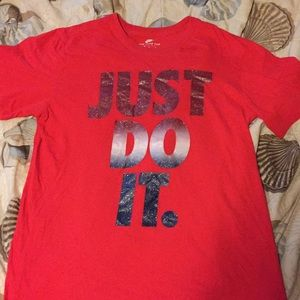 Just do it size medium T-shirt red with logo